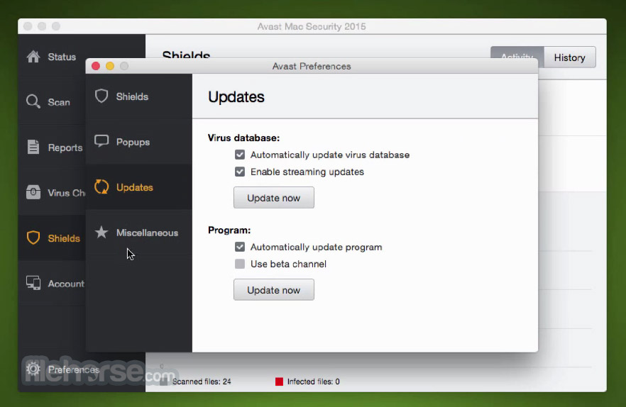 Avast Mac Security 10.6 Build 43623 Screenshot 5
