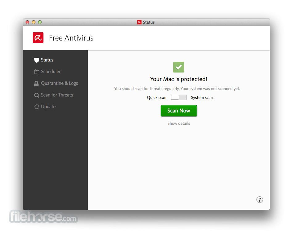 Avira Free Antivirus 3.9.4.55 Screenshot 1
