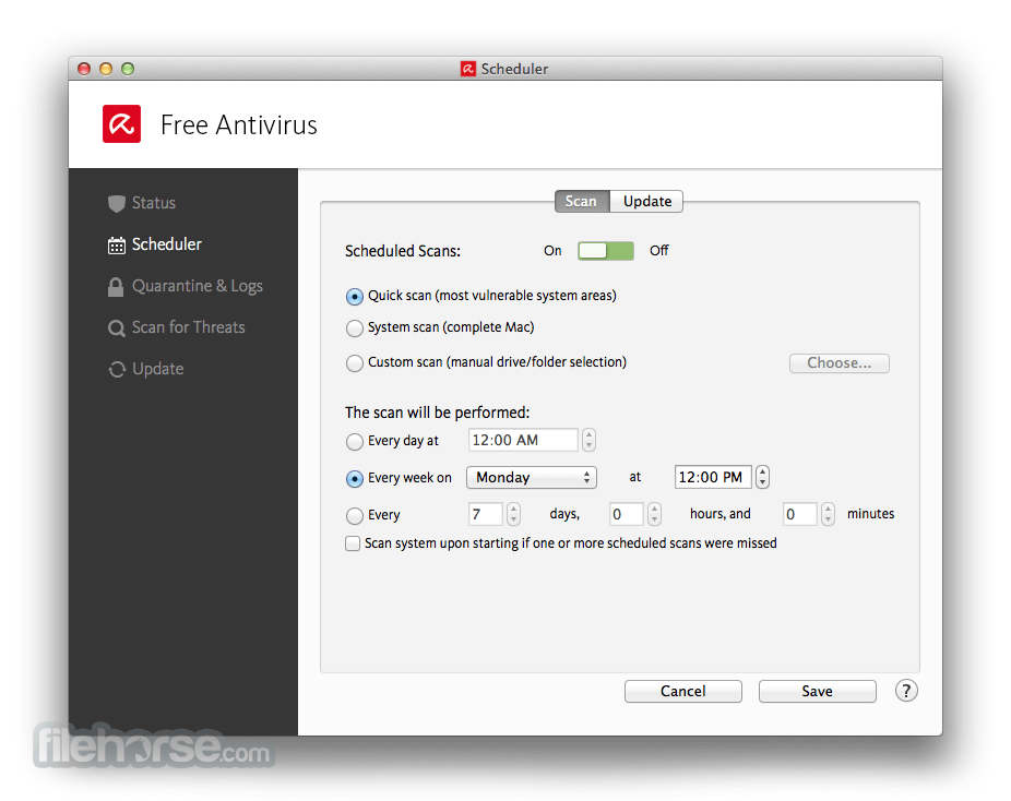 Avira Free Antivirus 3.9.4.55 Screenshot 3