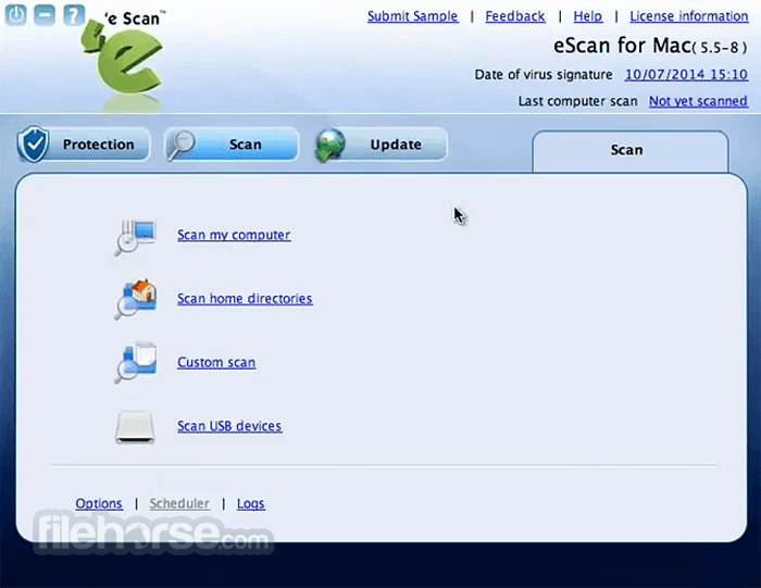 eScan Anti-Virus Security 6.0.2 Screenshot 2