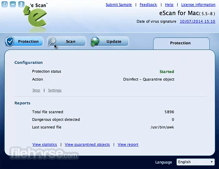eScan Anti-Virus Security 6.0.2 Screenshot 3