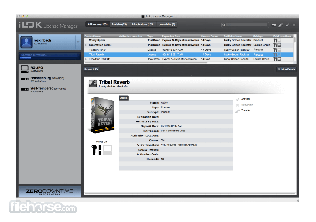iLok License Manager 5.3.2 Screenshot 1
