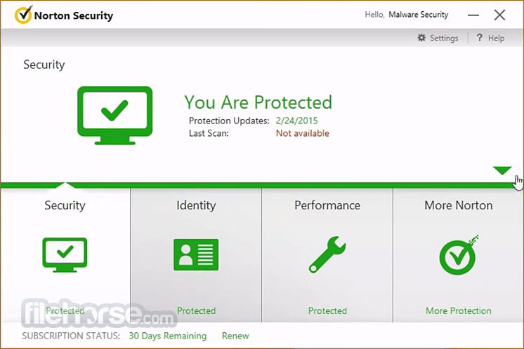 Norton Security 8.1.2 Screenshot 1