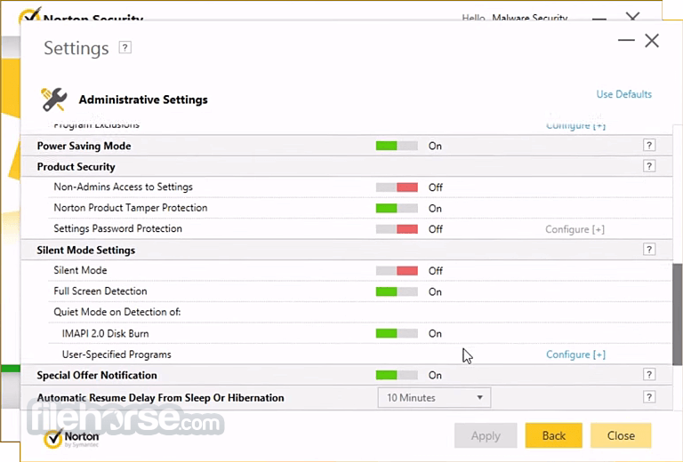Norton Security 8.1.2 Screenshot 5