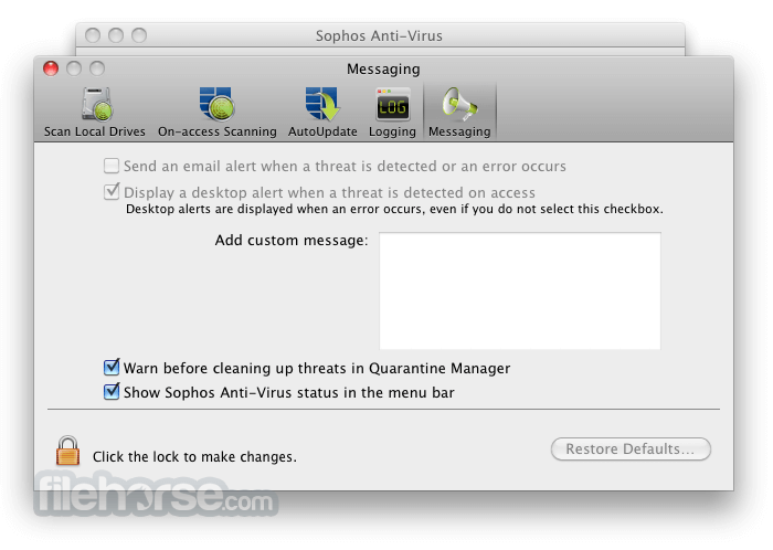 Sophos Anti-Virus Home Edition 9.2.2 Screenshot 5