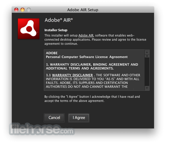 Adobe AIR 3.4.0.2540 Screenshot 1