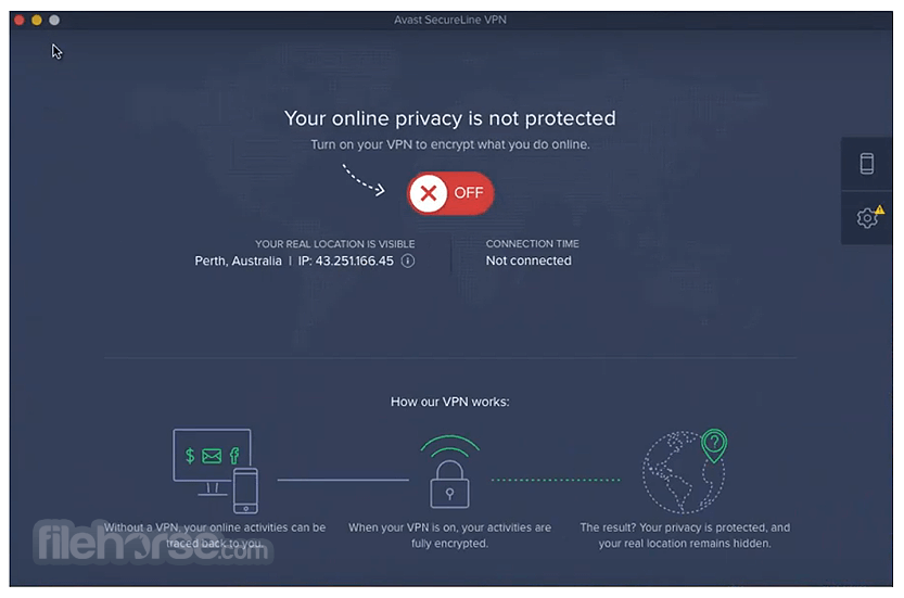 Avast SecureLine VPN 3.8.1 Screenshot 1