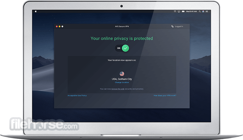 AVG Secure VPN 1.4.0 Screenshot 1