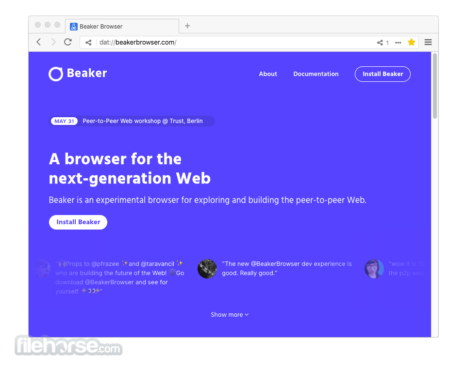 Beaker Browser 0.8.10 Screenshot 1