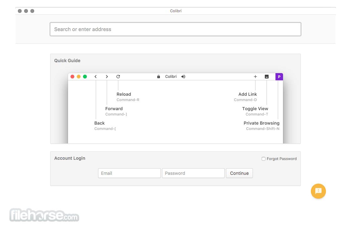 Colibri Browser 1.21.1 Screenshot 1
