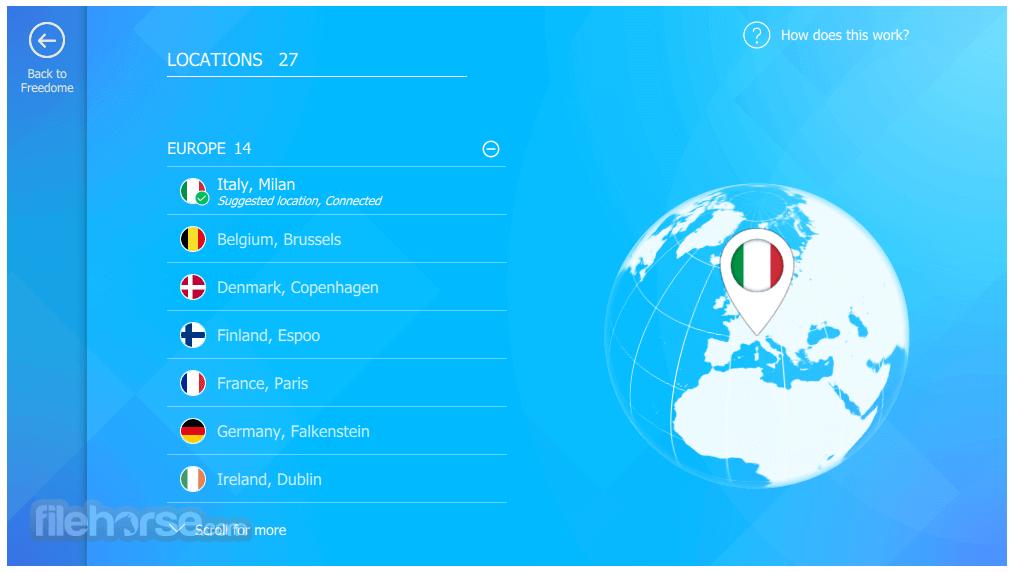 F-Secure Freedome VPN 2.36.6555.0 Screenshot 2