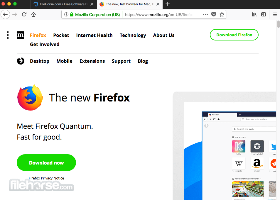 Firefox 45.0.1 Screenshot 1