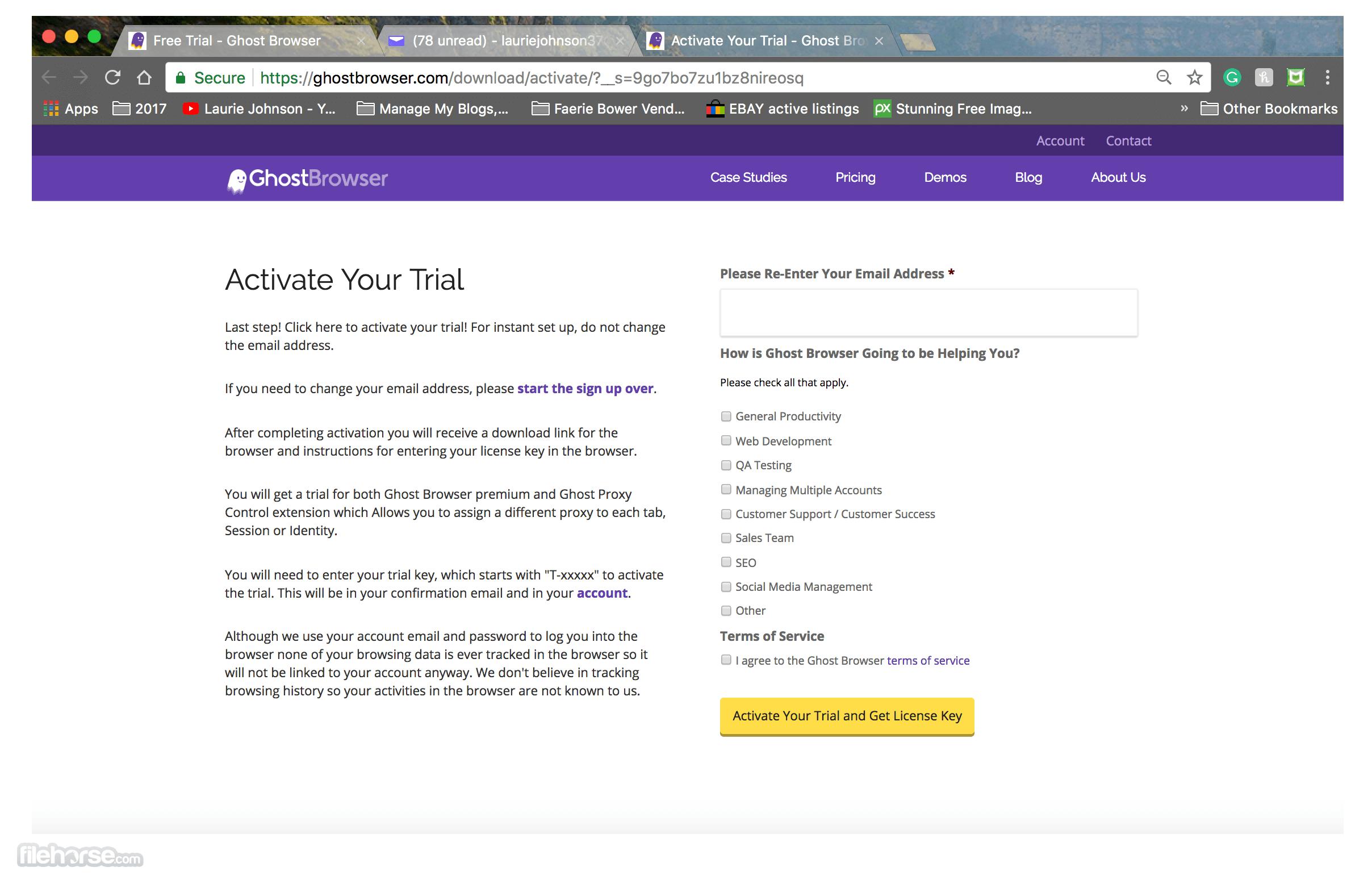 Ghost Browser 2.1.1.16 Captura de Pantalla 1