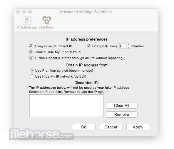 Hide My IP 6.2.40 Screenshot 2