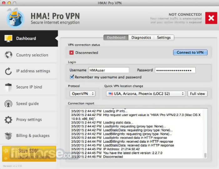 hma pro vpn username and password 2019