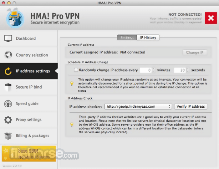 HMA VPN 4.6.0 Screenshot 3