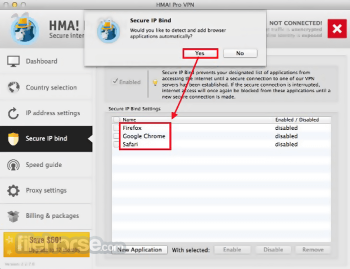 HMA VPN 4.6.0 Screenshot 4