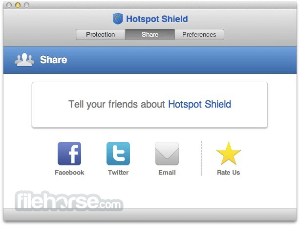 Hotspot Shield 2.0.6 Captura de Pantalla 2