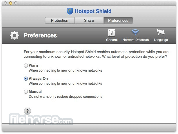 Hotspot Shield 2.72 Captura de Pantalla 3