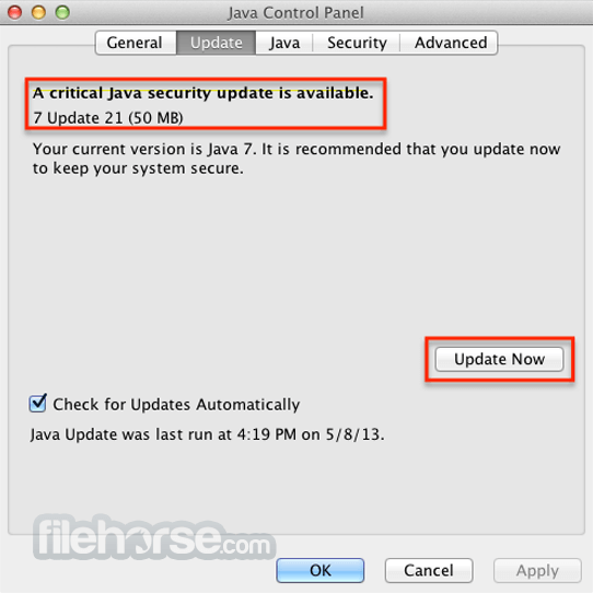 Java JRE 8 Update 131 Captura de Pantalla 2