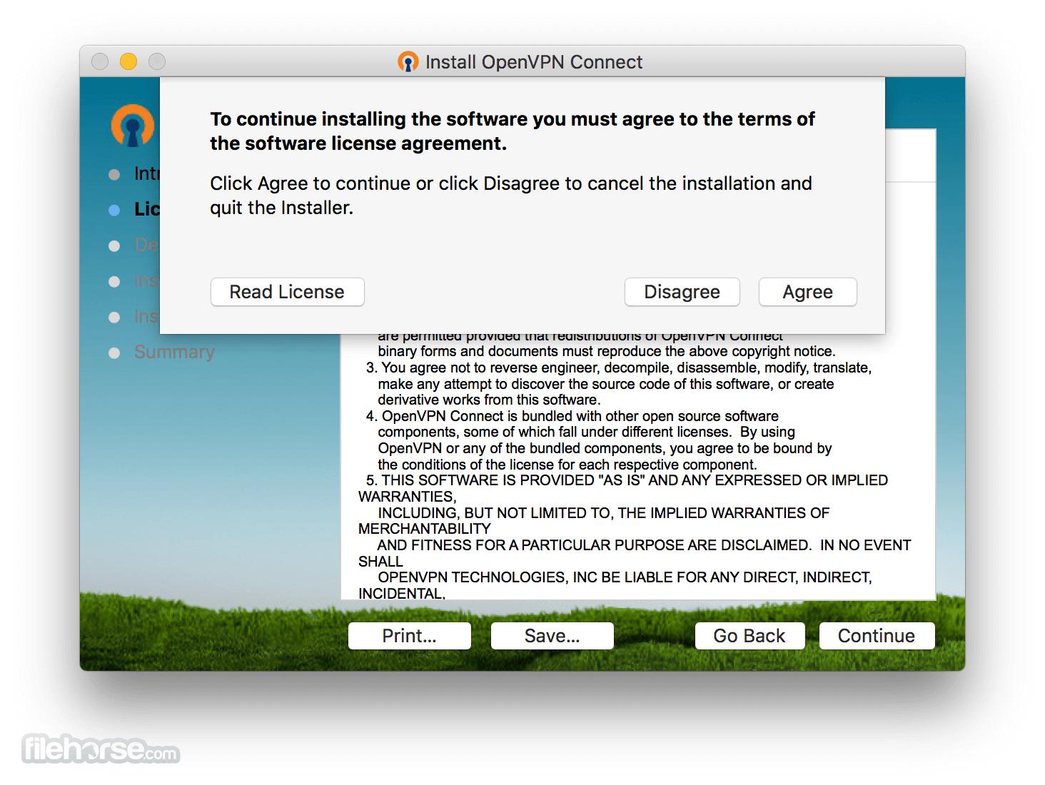 OpenVPN 2.4.9 Captura de Pantalla 2
