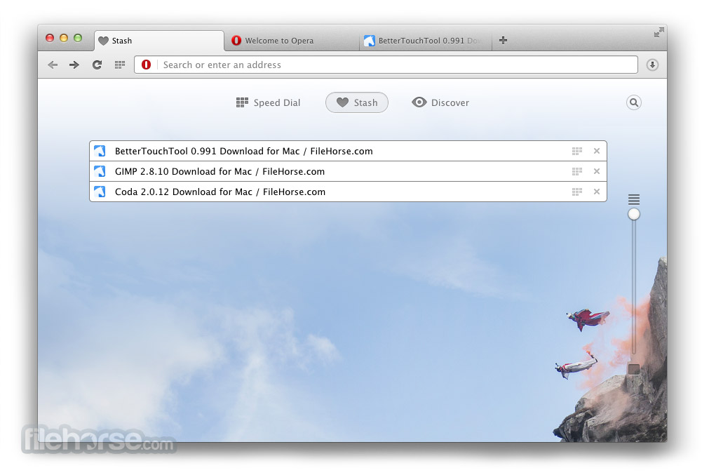 Opera 43.0 Build 2442.1165 Screenshot 4