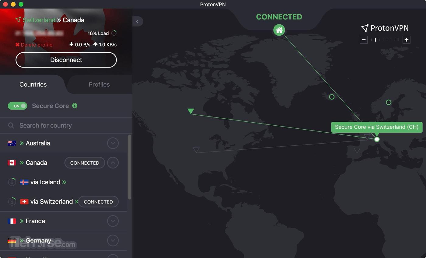 ProtonVPN 1.6.0 Screenshot 2