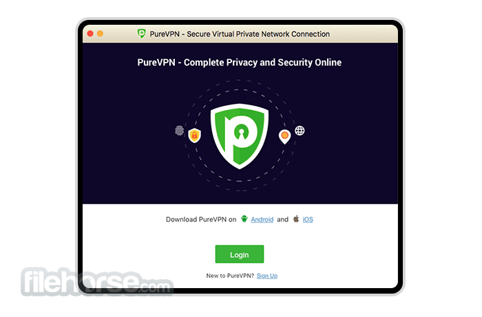 PureVPN 7.2.2 Screenshot 1