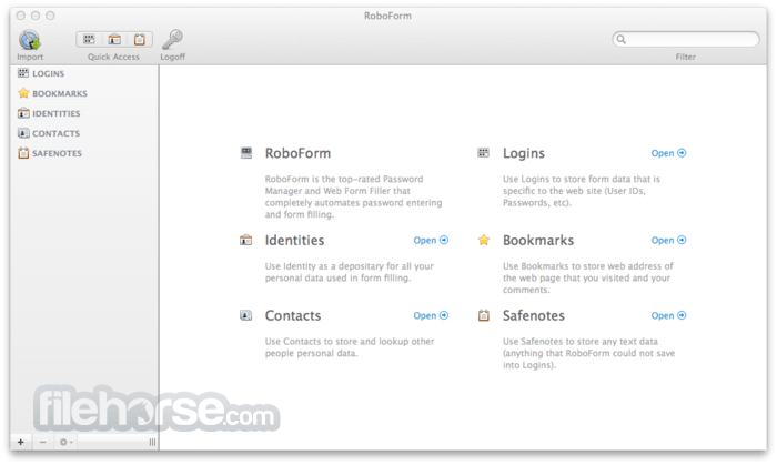 RoboForm 2.3.0 Screenshot 3