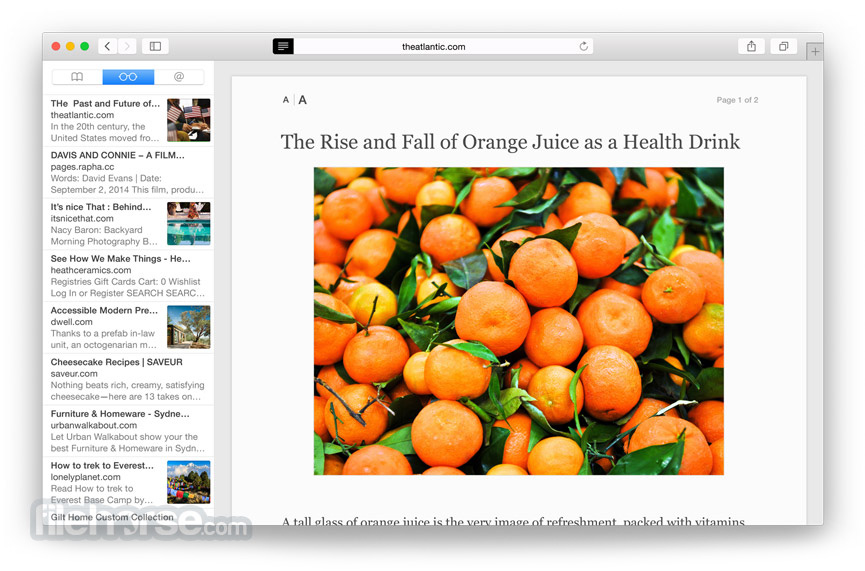 Safari 10.1.2 (Yosemite) Screenshot 1