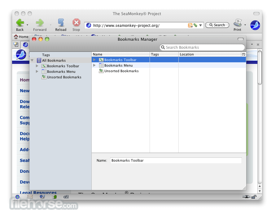 SeaMonkey 1.1.8 Screenshot 3