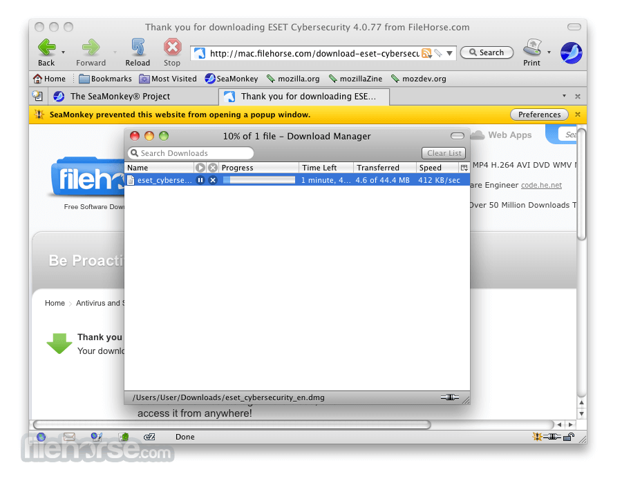 SeaMonkey 1.1.12 Screenshot 4