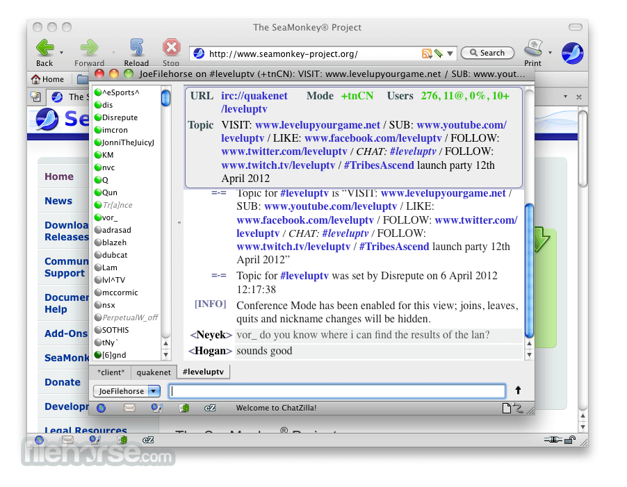 SeaMonkey 1.1.8 Screenshot 5