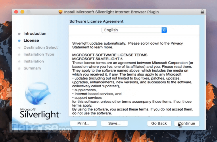 Silverlight 5.1.41105.0 Screenshot 2