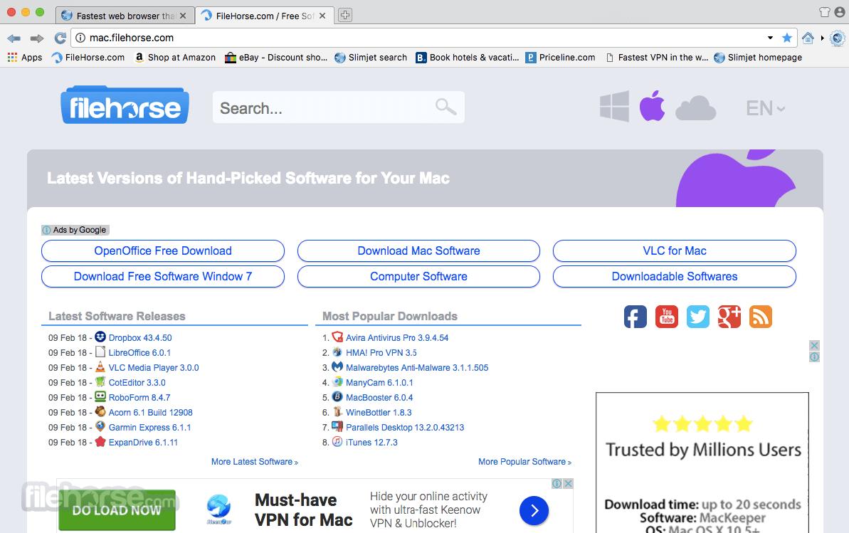 Slimjet 27.0.7 Screenshot 1