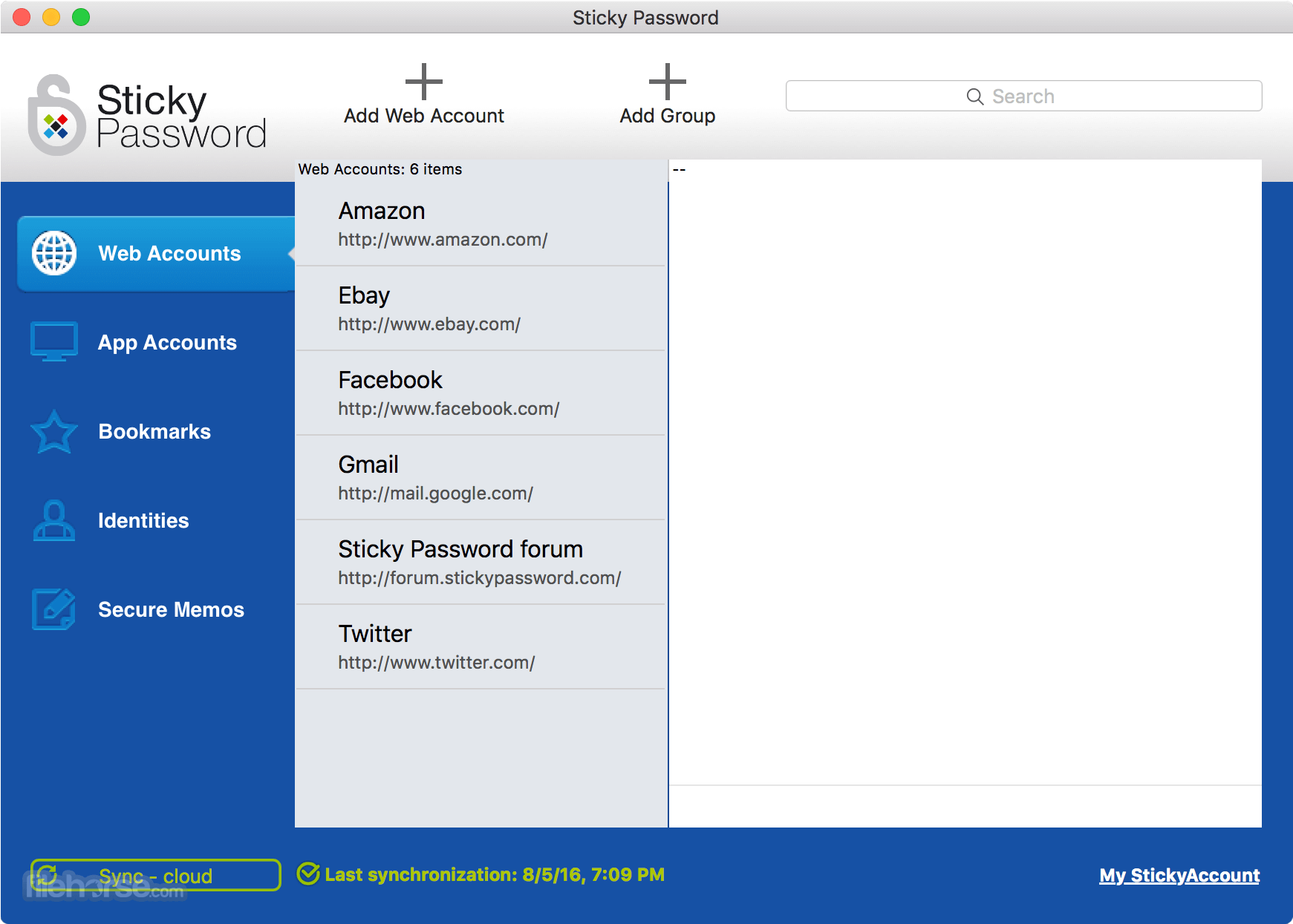 Sticky Password 8.3.1 Build 2826 Captura de Pantalla 1