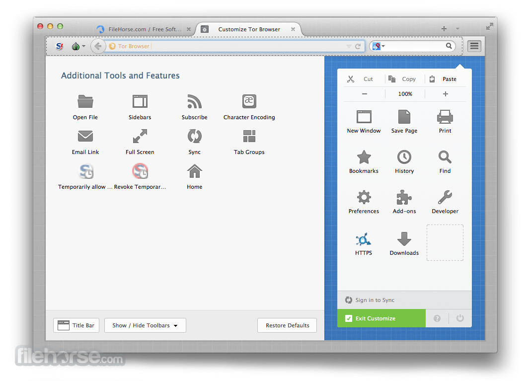 Tor Browser 5.5.5 Captura de Pantalla 4
