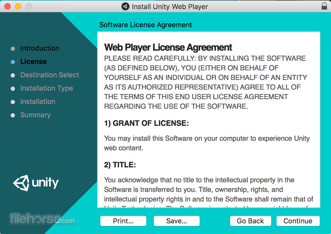 Unity Web Player for Mac 5.3.8 Captura de Pantalla 3