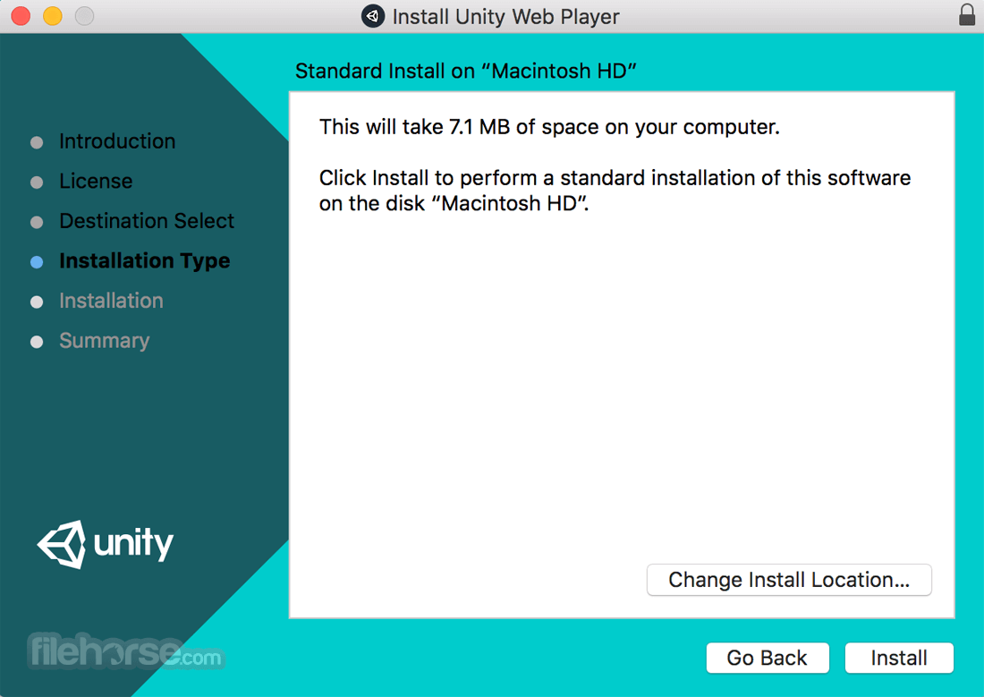 Unity Web Player for Mac 5.3.8 Captura de Pantalla 4