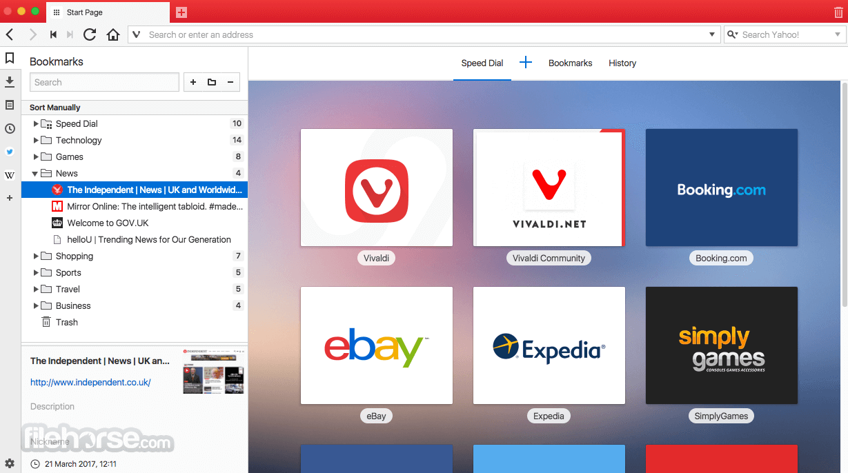 Vivaldi 1.15.1147.47 Screenshot 3