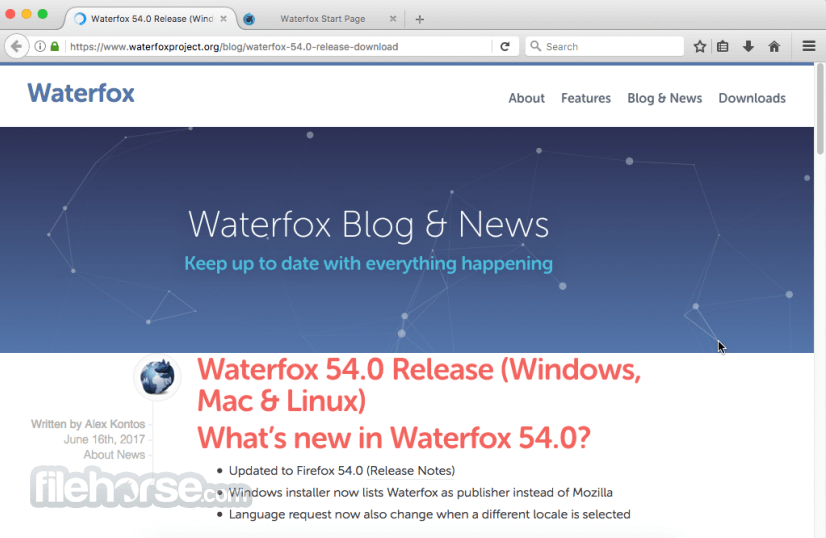 Waterfox 56.2.0 Screenshot 1