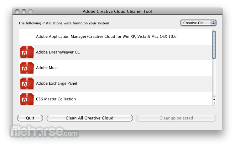Adobe Creative Cloud Cleaner Tool 4.3.0.139 Screenshot 1
