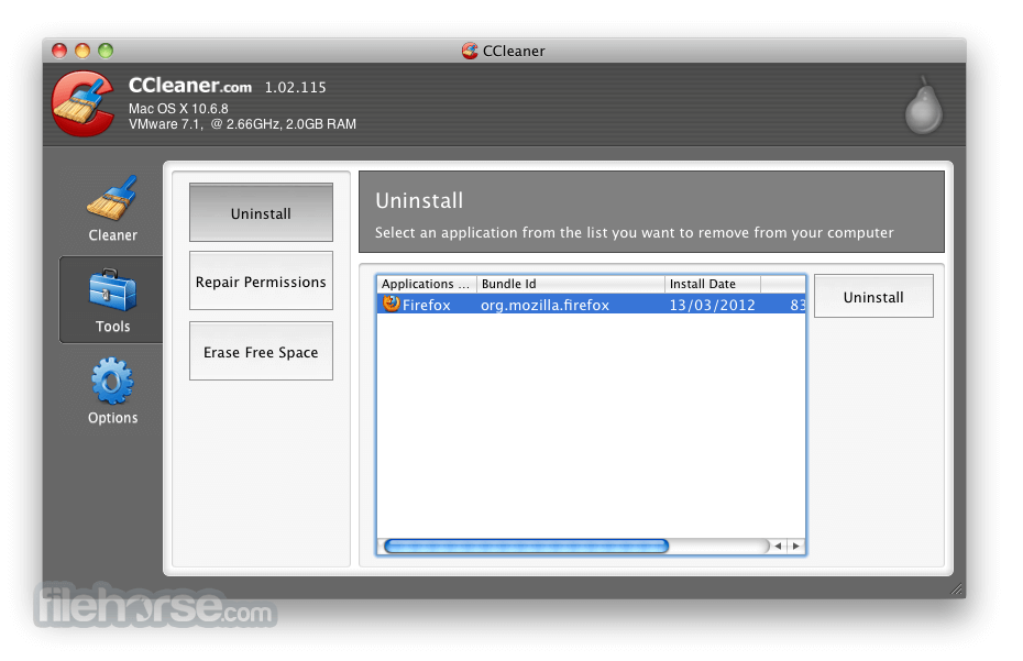 CCleaner 1.17.603 Screenshot 2