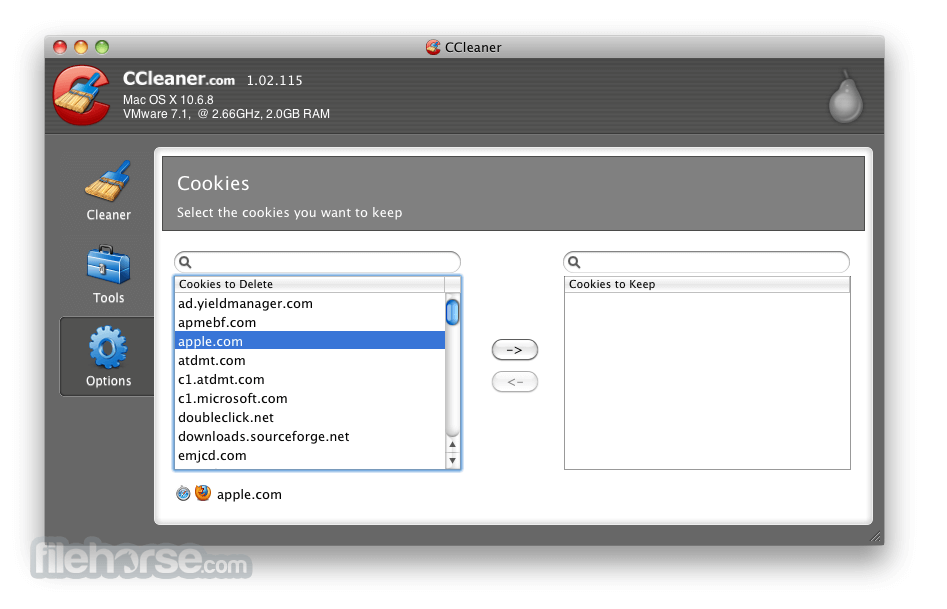 CCleaner 1.17.603 Screenshot 4