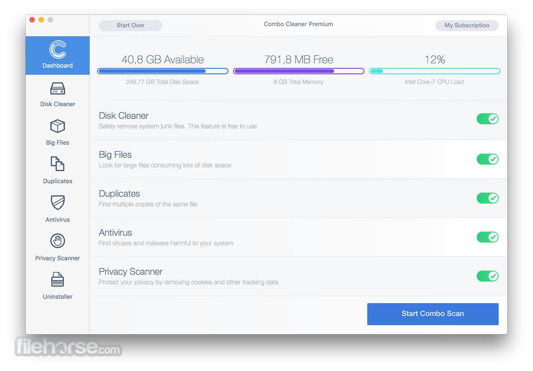 Combo Cleaner 1.3.6 Screenshot 1