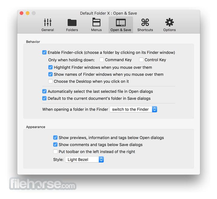 Default Folder X 5.4.6 Screenshot 5
