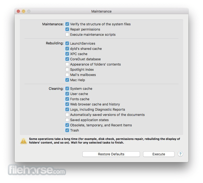 Maintenance 2.3.6 Screenshot 1