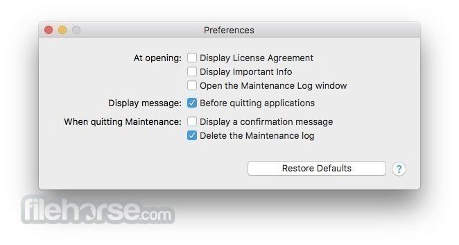 Maintenance 2.3.6 Screenshot 2