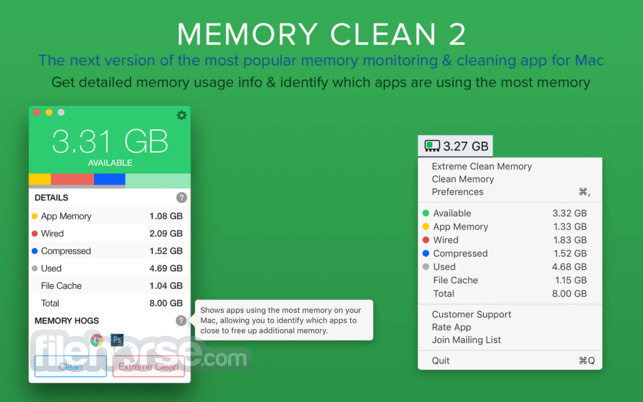 Memory Clean 3 1.0.6 Screenshot 2