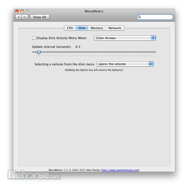 MenuMeters 2.0.7 Screenshot 2